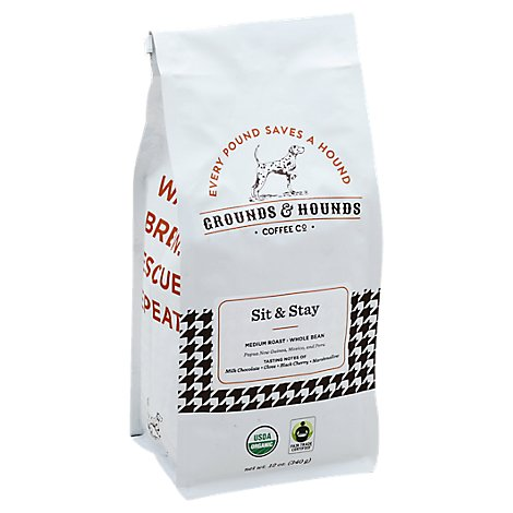 Grounds & Hounds Coffee Sit & Stay Wb - 12 Oz