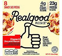 Real Good Food Co. Pizza Cheese & Uncured Bacon Frozen 8 Count - 8.5 Oz