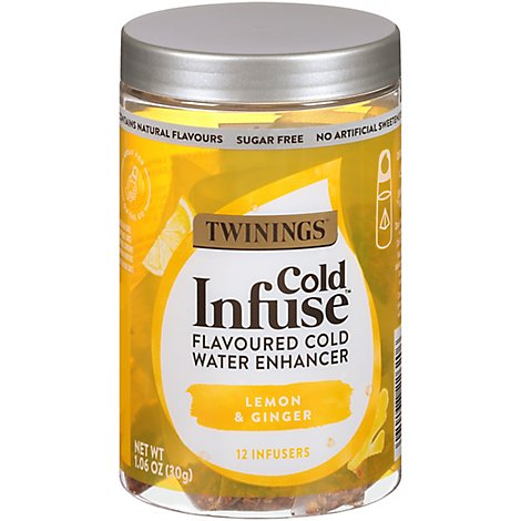 Twinings Cold Infuse Lemon Orange & Ginger - 12 Count