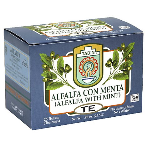 Tadin Canelita Herbal Tea Alfalfa With Mint 25 Count - 0.98 Oz