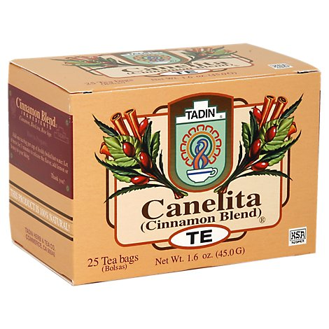 Tadin Canelita Herbal Tea Cinnamon Tea Blend 24 Count - 1.69 Oz