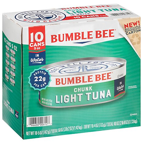 Bumble Bee Tuna Chunk Light In Water - 10-5 Oz