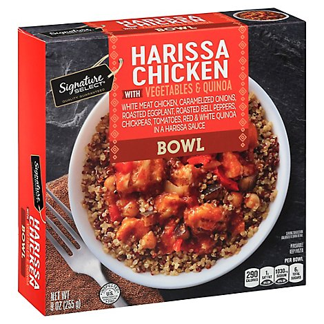 Signature Select Bowl Harissa Chicken Veg Quinoa - 9 Oz