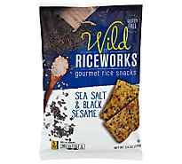 Riceworks Wild Rice Snacks Gourmet Sea Salt & Black Sesame - 5.5 Oz