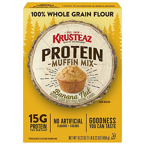 Krusteaz Protein Banana Nut Muffin Mix - 16.23 Oz