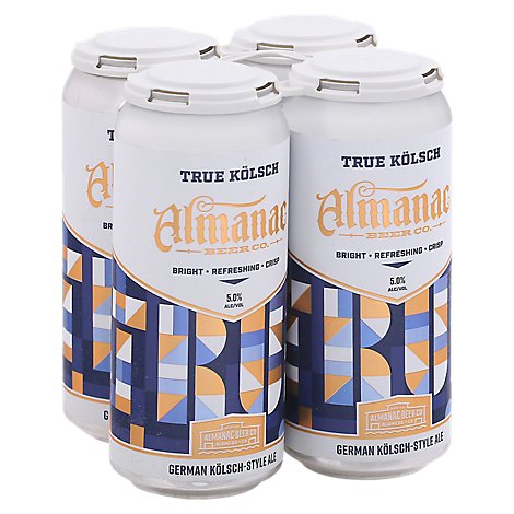 Almanac True Kolsch In Cans - 4-16 Fl. Oz.