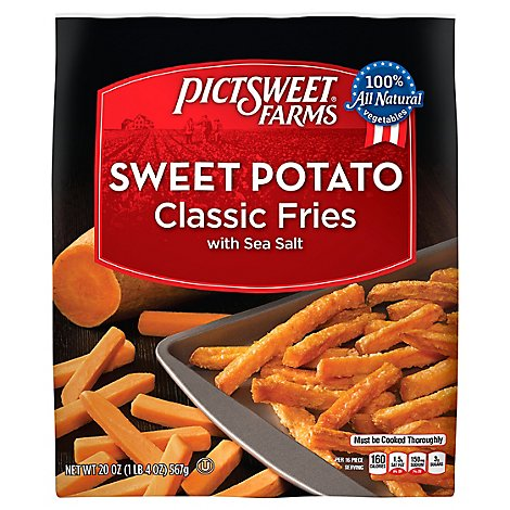 PictSweet Sweet Potato Fries Straight Cut With Sea Salt - 20 Oz