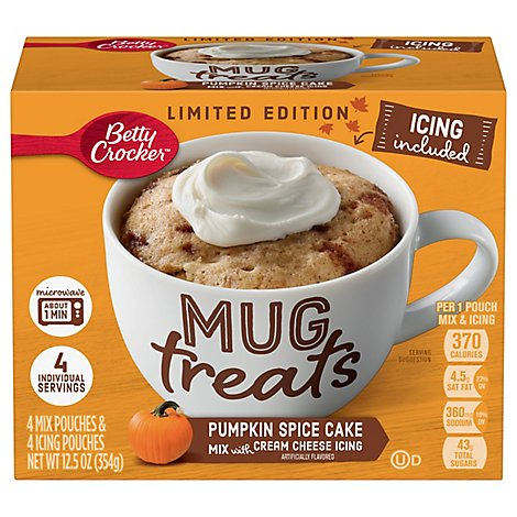 Betty Crocker Mug Treats Mix Pumpkin Spice Cake - 11.8 Oz