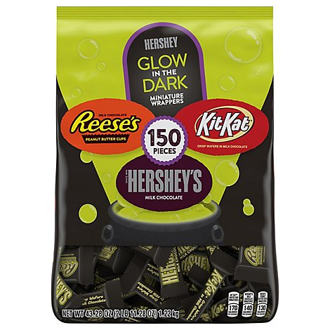 HERSHEYS Miniatures Glow In The Dark Assorted 150 Count - 43.28 Oz