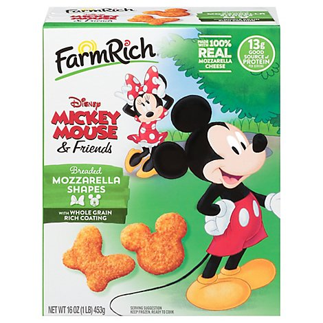 Farm Rich Frozen Bake Breaded Mozzarella Shapes Toy Story 4 - 16 Oz