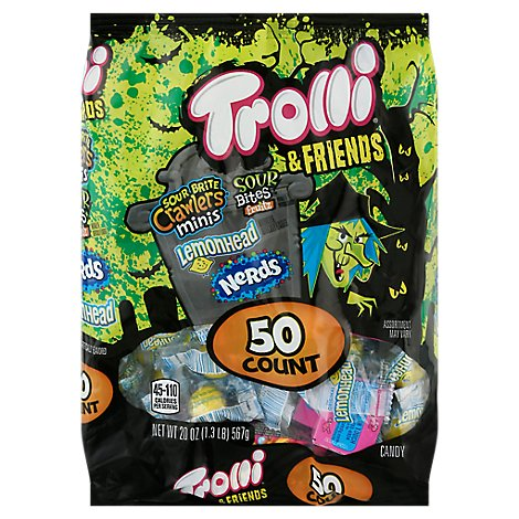 Trolli & Friends Candy Assorted 50 Count - 20 Oz