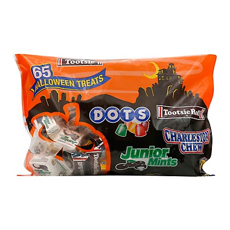 Tootsie Roll Candy Halloween Treats 65 Count - 38.3 Oz