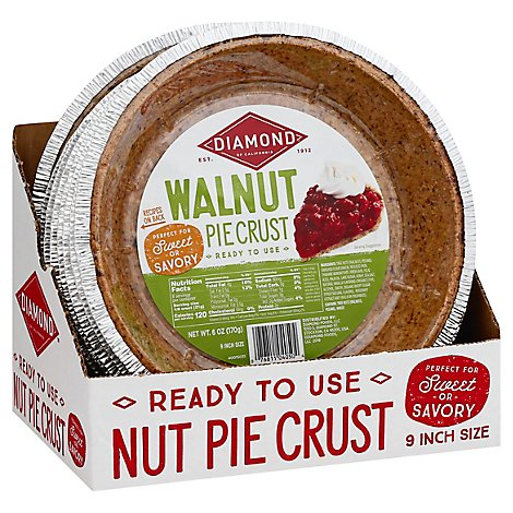 Diamond Pie Crust Walnut 9 Inch - 6 Oz