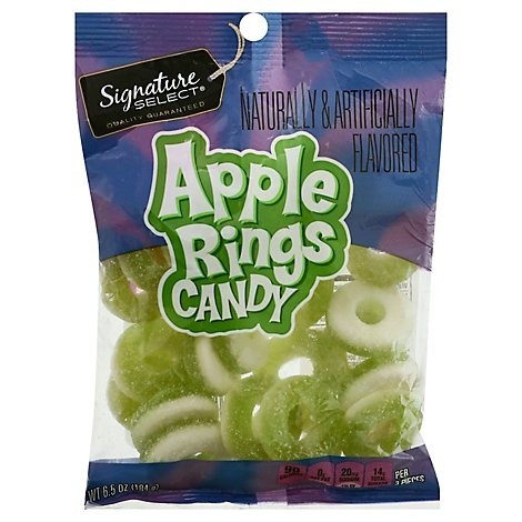 Signature SELECT Candy Apple Rings - 6.5 Oz