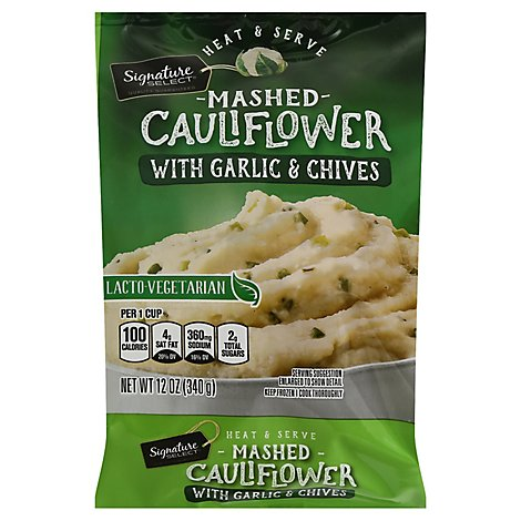 Signature SELECT Cauliflower Mashed With Chives Garlic - 12 Oz