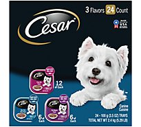 Cesar Canine Cuisine Filets In Sauce 3 Flavors - 24-3.5 Oz