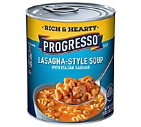 Progresso Rich & Heaty Soup Lasagna Style With Italian Sausage - 18.5 Oz