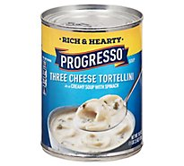 Progresso Rich & Heaty Soup Three Cheese Tortellini With Spinach - 18.5 Oz