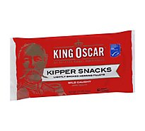 King Oscar Kipper Snacks Lightly Smoked Herring Fillets - 3.54 Oz