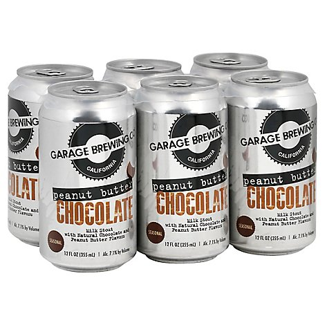 Garage Brewing Peanut Butter Choco Milk Stout In Cans - 6-12 Fl. Oz.