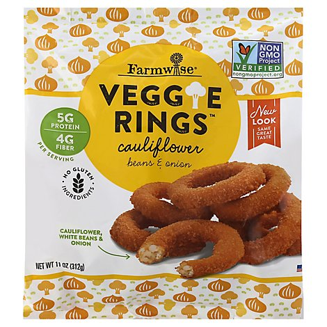 Veggie Rings Cauliflower With White Beans And Onions - 11 Oz