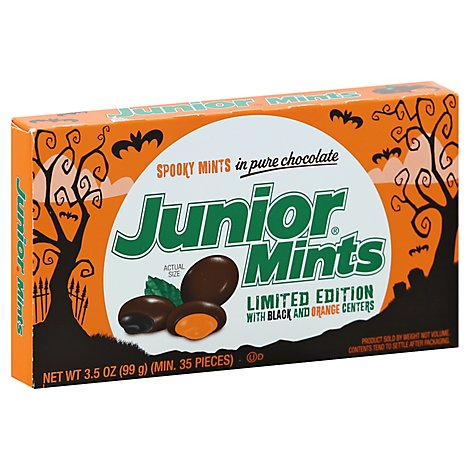 Junior Mints Creamy Mints in Pure Chocolate Spooky - 3.5 Oz