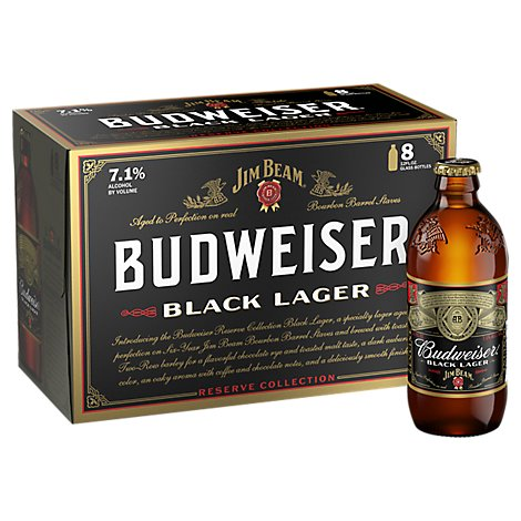 Budweiser Black Lager In Bottles - 8-12 Fl. Oz.
