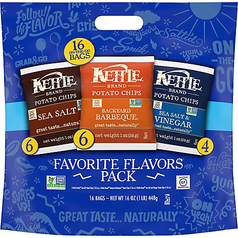 Kettle Foods Multipack Chips 16 Count - 16-1 Oz