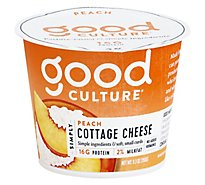 Good Culture Simply Cottage Cheese Lowfat 2% Milkfat With Peach On Bottom - 5.3 Oz