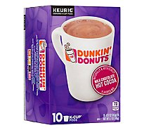 Dunkin Donuts Hot Cocoa K Cup Pods Milk Chocolate - 10-0.51 Oz
