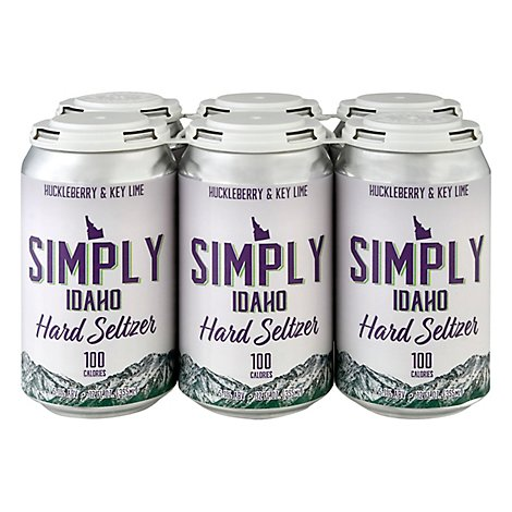 Simply Idaho Hckbry Key Lime Seltzer In Cans - 6-12 Fl. Oz.