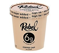 Rebel Ice Cream Keto No Sugar Coffee Chip 1 Pint - 473 Ml