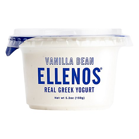 Ellenos Yogurt Greek Vanilla Bean - 5.3 Oz