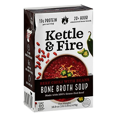 Kettle & Fire Chili With Beans - 16.9 Oz