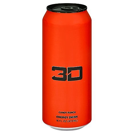 3d Drink Energy Red - 16 Fl. Oz.