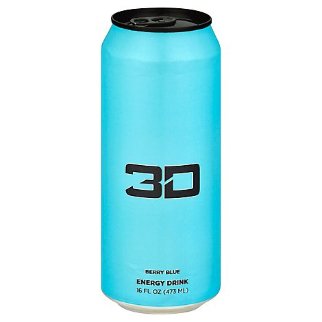 3d Drink Energy Blue - 16 Fl. Oz.