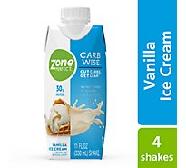 ZonePerfect Carb Wise Shake Concentrated Liquid - Vanilla Ice Cream - 4 - 11 fl oz