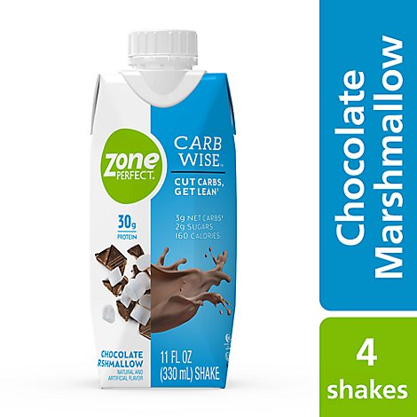 ZonePerfect Carb Wise Shake Ready To Drink Chocolate Marshmallow - 4-11 Fl. Oz.