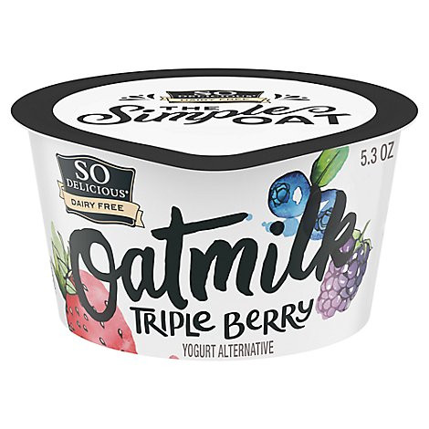 So Delicious Dairy Free Yogurt Alternative Oatmilk Triple Berry - 5.3 Oz