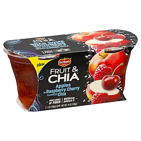 Del Monte Fruit And Chia Apple In Raspberry Cherry Flavored Chia Cup - 2-7 Oz