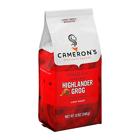 Camerons Coffee Handcrafted Ground Beans Highlander Grog - 12 Oz