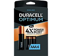 Duracell Optimum Batteries Alkaline AAA - 4 Count