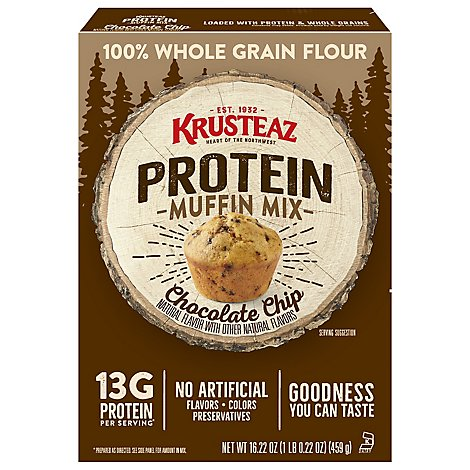 Krusteaz Protein Chocolate Chip Muffin Mix - 16.22 Oz