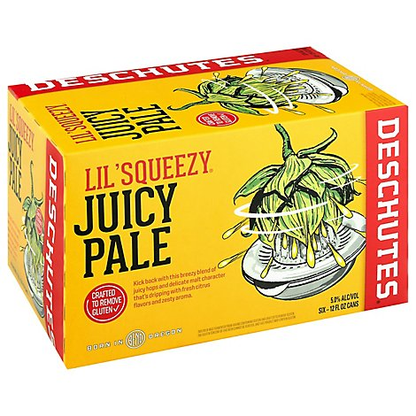 Deschutes Lil Squeezy Juicy Ale In Cans - 6-12 Fl. Oz.