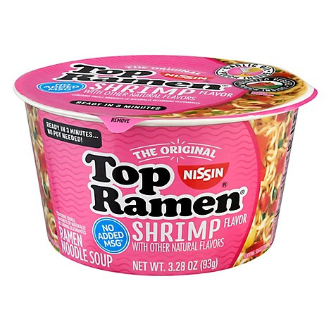 Nissin Top Ramen Bowl Shrimp - 3.28 Oz