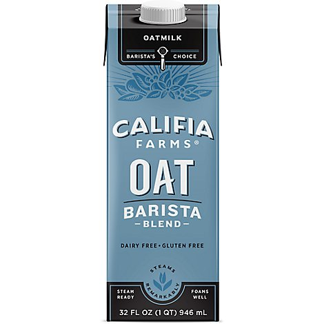 Califia Farms Oatmilk Gluten Free Barista Blend - 32 Fl. Oz.