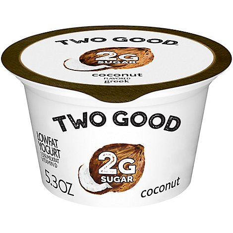 Two Good Greek Yogurt Low Fat Coconut - 5.3 Oz