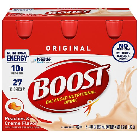BOOST Original Nutritional Drink Peaches & Creme - 6-8 Fl. Oz.