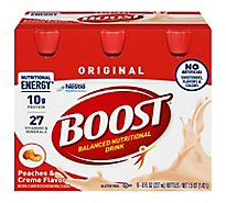 Boost Nutritional Drink Original Peaches And Creme - 6-8 Fl. Oz.