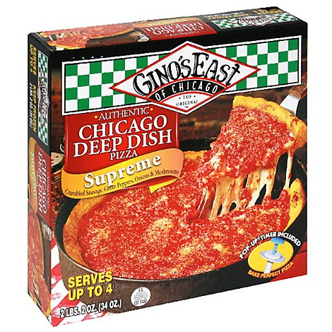 Ginos East of Chicago Pizza Chicago Deep Dish Supreme Frozen - 32 Oz